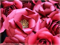 クラフトパンチで立体のバラ