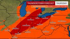 Thursday's Thunderstorm Forecast halted by WeatherGoddess7 Severe Weather Protection.