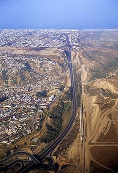 Tijuana, Mexico and the U.S.  border. (The Border of the U.S. and Mexico is 1900 miles long.