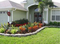 Front Yard edging and Landscaping design.