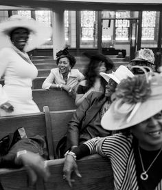Easter Hats at the Abyssinian Baptist Church in Harlem Old Folks, Version Francaise, Billie Holiday, Church Hats, Abyssinian, Panama Hat, Cowboy Hats, Old Things, African