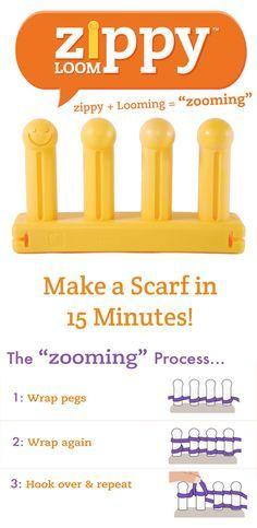 zippy loom basic scarf tutorial youtube zippy loom pinterest - Strickrahmen Muster