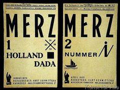 German School - Covers of the Dada magazine 'Merz', edited by Kurt Schwitters, 1923