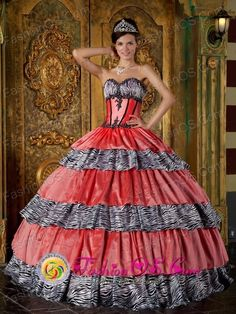 66fe6f95c3c1 Buy luxurious sweetheart zebra ruffled quinceanera dress best seller in  2013 from turquoise quinceanera dresses collection, sweetheart neckline  ball gowns ...