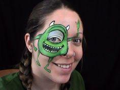 Maquillage de fantaisie - Mike Wazowski - Face painting