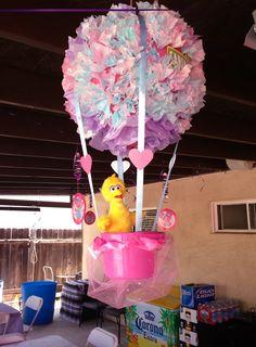 Abby Cadabby hot air balloon hanging centerpiece