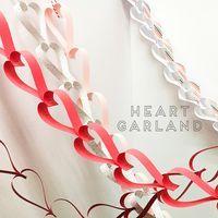 Decor Crafts, Diy And Crafts, Paper Crafts, Valentine Day Love, Valentines Diy, Heart Garland, Babyshower, Christmas Deco, Creative Decor