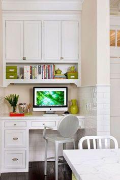 Nice kitchen desk.