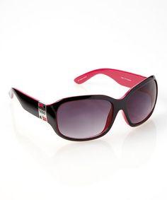 Look what I found on #zulily! Black & Pink Montage Sunglasses #zulilyfinds