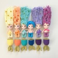 Crochet, mermaid dolls with removable tails PDF Mermaid Kaelyn Crochet mermaid Crochet by DuduToyFactory You can access more content by visiting the site. Mermaid Doll pattern with removable tails - nose shaping for amigurumi crochet doll face - Salvabran Crochet Diy, Crochet Gifts, Crochet For Kids, Crochet Dolls, Crochet Ideas, Doll Patterns, Amigurumi Patterns, Knitting Patterns, Crochet Patterns