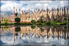 Riflessi della Kakku Pagode - Birmania