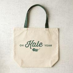 Market Tote Bag - Oh Kale Yeah | west elm