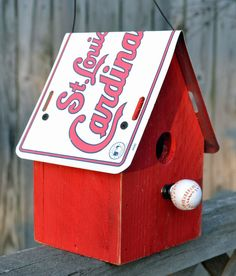Love this St. Louis Cardinals Birdhouse