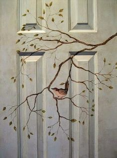 Dishfunctional Designs: Beautiful Unique Painted Doors - Indoors and Out. Beautiful Unique Painted Doors - Indoors and Out Door Design, House Design, Design Design, Modern Design, Bedroom Doors, Bedroom Art, Hand Painted Furniture, Furniture Stencil, Stencil Decor