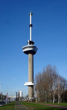 The Euromast is one of the tallest tower structures in Rotterdam which is open to the public. Netherlands Tourism, Netherlands Country, Rotterdam, Paradise On Earth, Cn Tower, Places Ive Been, Cool Photos, Amazing Photos, Dutch
