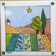 Hand painted tile by Monica tiles Tiles, Kids Rugs, Hand Painted, Home Decor, Room Tiles, Decoration Home, Kid Friendly Rugs, Room Decor, Tile