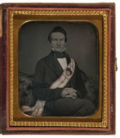 (c.1840s-50s) Gentleman with Masonic Sash
