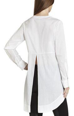 Chloie Double-Placket Long Shirt | BCBG