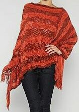 Rust Color Poncho www.beautimarc.net