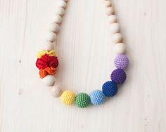 Rainbow nursing necklace / Teething necklace / by SvetlanaN