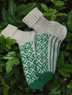 Finely Knitted Socks in Traditional Estonian by NordicMittens