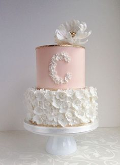 White Flower Birthday Cakes for Girls