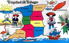 Trinidad and Tobago Map Card
