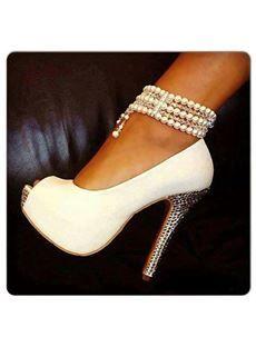 Sexy Matching Color Peep-toe Platform Stiletto Heels