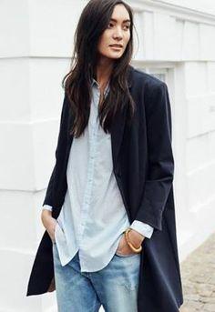 Denim + blazer #style #minimal