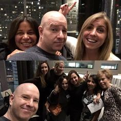 Last night @elanikins (travel consultant for @americanexpress) attended a dinner for her colleagues put on by @leadinghotelsoftheworld. I live in the condo above the event space so as they finished their food I elevatored down. Elana had told them I'm a t