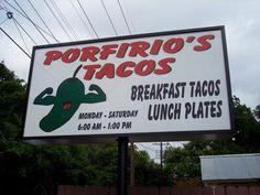 Austin Breakfast Taco map