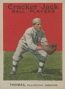 1914 Cracker Jack (E145) #34 Ira Thomas Front