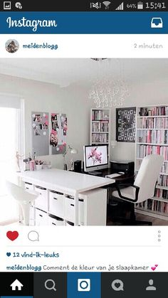 Een leuke moderne meisjes tiener kamer