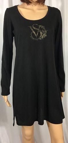 Victoria's Secret VS Women Sleep Shirt Night Gown Pajama Pullover Cotton Blend M  | eBay