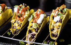 Schwarze Bohnen Tacos