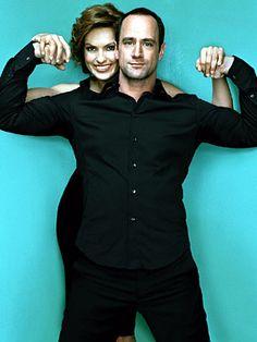 Chris Meloni (Detective Stabler) and Mariska Hargitay (Olivia Benson)  Law & Order: SVU