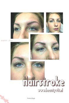 Permanente make-up van de wenkbrauwen 3D techniek. Flinter dunne haartjes. Beautyvit Huidverbetering Dreef 10 4813 eg Breda 076-5223838 www.beautyvit.nl info@beautyvit.nl