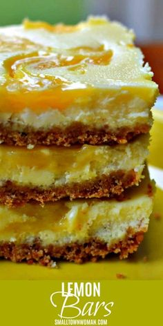 pinning to check out later. These Lemon Curd Cheesecake Bars are so yummy that you are going to need to pace yourself or you will find that you just consumed three to four of them. Lemon Desserts, Lemon Recipes, Fun Desserts, Delicious Desserts, Dessert Recipes, Yummy Food, Bar Recipes, Recipies, Recipes Dinner