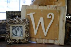 Wooden Letter  Wall Decor  Reclaimed Pallets by revampedandrevived