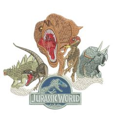 Jurassic World  Logo Filled Machine Embroidery Designs in 2 Sizes   Available in  4x4  and 5x7  Please do not redistribute these files  The following formats are available TO CHOOSE  from: DST,EXP,HUS,JEF,PES,VIP,VP3,XXX  If NO format is selected at Time of purchase the default (PES) for...