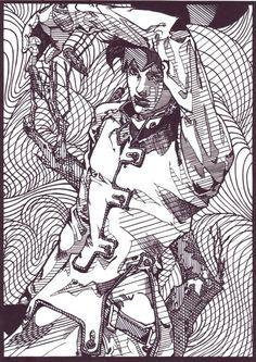 【切り絵】岸辺露伴 / あどなっぷ さんのイラスト - ニコニコ静画 (イラスト)