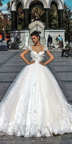 pollardi wedding dresses ball gown sweetheart cap sleeves floral embroidered