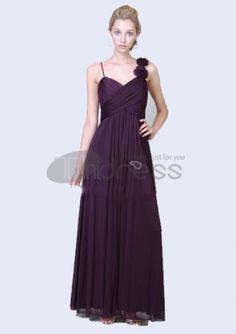 Long Evening Dresses-A-Line V-neck Floor-Length Chiffon Charmeuse Long Evening Dresses