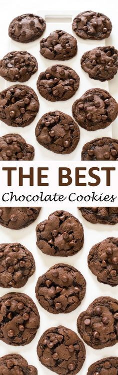 Soft & Chewy Double Chocolate Chip Cookies. Made with semi sweet chocolate chips and cocoa powder. These cookies take only 20 minutes to make start to finish! | chefsavvy.com #recipe #dessert #chocolate #cookies
