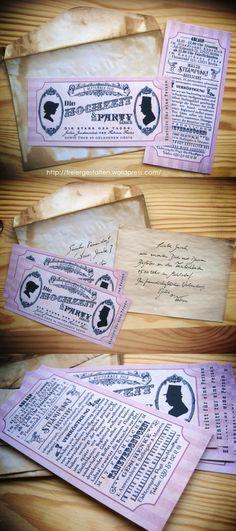 http://freiergestalten.wordpress.com/ I created the invitation cards for my very own Steampunk Wedding. It was a blast!
