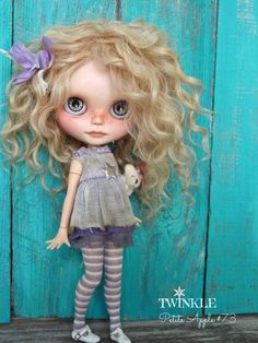 """Twinkle star outfit by PetiteAppleShop Blythe doll """"Twinkle"""" by Marina, Petite Apple #73"""