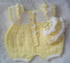 0005B. Baby Boy Crochet Bubble Suit Reversible by AlwaysCreateSeed