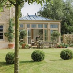 An extra room looking on to the garden is a traditional choice for many country homes. This stunning space creates a lovely area to spend time in looking over the landscaped garden