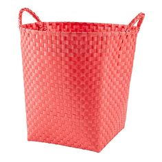 Shop Kids' Storage Containers: Kids Colorful Woven Floor Storage Baskets.  Our new storage is quite strapping.  Colorful resin straps are woven over a sturdy steel frame.  Good looking, practical and affordable.