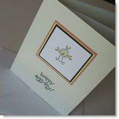 CLEARANCE  Note Card Easter / Blank & Handmade  by Sentimentalist, $1.25